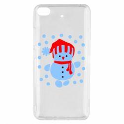Чехол для Xiaomi Mi 5s Снеговик в шапке - FatLine