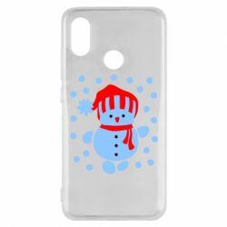 Чехол для Xiaomi Mi8 Снеговик в шапке - FatLine