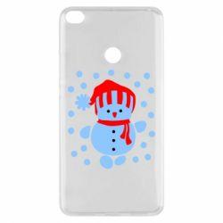 Чехол для Xiaomi Mi Max 2 Снеговик в шапке - FatLine