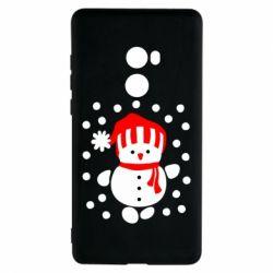 Чехол для Xiaomi Mi Mix 2 Снеговик в шапке - FatLine