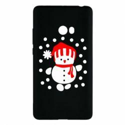 Чехол для Xiaomi Mi Note 2 Снеговик в шапке - FatLine
