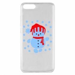 Чехол для Xiaomi Mi Note 3 Снеговик в шапке - FatLine