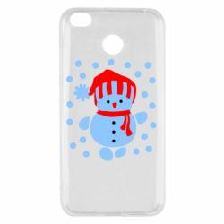 Чехол для Xiaomi Redmi 4x Снеговик в шапке - FatLine