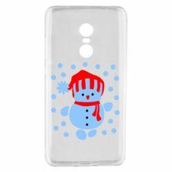 Чехол для Xiaomi Redmi Note 4 Снеговик в шапке - FatLine