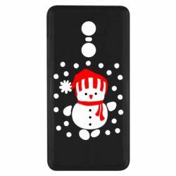 Чехол для Xiaomi Redmi Note 4x Снеговик в шапке - FatLine