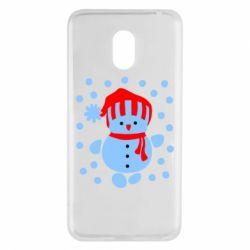 Чехол для Meizu M6 Снеговик в шапке - FatLine