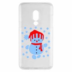 Чехол для Meizu 15 Снеговик в шапке - FatLine