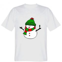 Мужская футболка Снеговик