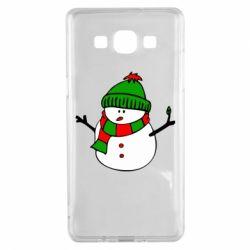 Чехол для Samsung A5 2015 Снеговик