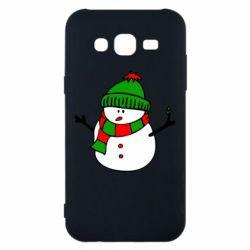 Чехол для Samsung J5 2015 Снеговик