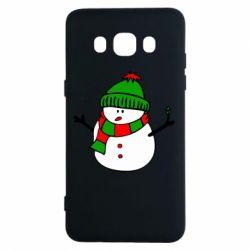 Чехол для Samsung J5 2016 Снеговик