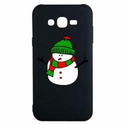Чехол для Samsung J7 2015 Снеговик