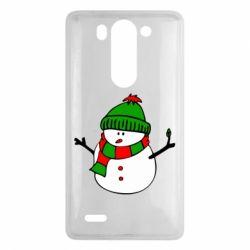 Чехол для LG G3 mini/G3s Снеговик - FatLine