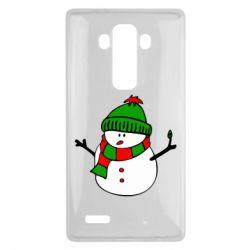 Чехол для LG G4 Снеговик - FatLine