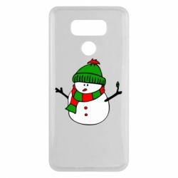 Чехол для LG G6 Снеговик - FatLine