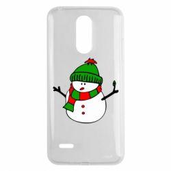 Чехол для LG K8 2017 Снеговик - FatLine