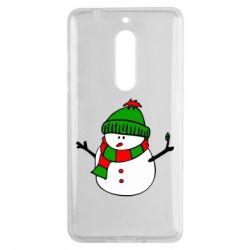 Чехол для Nokia 5 Снеговик - FatLine