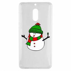 Чехол для Nokia 6 Снеговик - FatLine