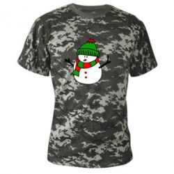 Камуфляжная футболка Снеговик - FatLine
