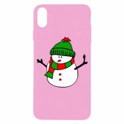 Чехол для iPhone X/Xs Снеговик