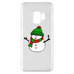 Чехол для Samsung S9 Снеговик