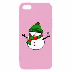 Чехол для iPhone5/5S/SE Снеговик