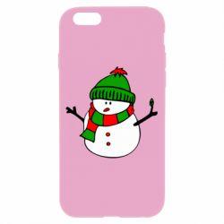 Чехол для iPhone 6/6S Снеговик