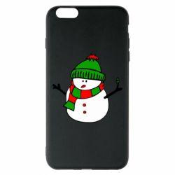 Чехол для iPhone 6 Plus/6S Plus Снеговик