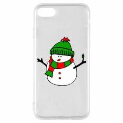 Чехол для iPhone 7 Снеговик