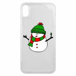 Чехол для iPhone Xs Max Снеговик