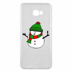Чехол для Samsung J4 Plus 2018 Снеговик