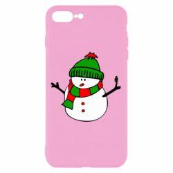 Чехол для iPhone 7 Plus Снеговик