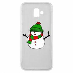 Чехол для Samsung J6 Plus 2018 Снеговик