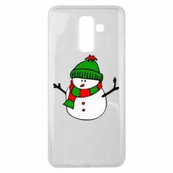 Чехол для Samsung J8 2018 Снеговик