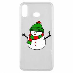 Чехол для Samsung A6s Снеговик