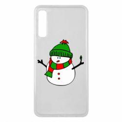 Чехол для Samsung A7 2018 Снеговик