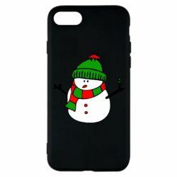 Чехол для iPhone 8 Снеговик