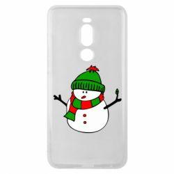 Чехол для Meizu Note 8 Снеговик - FatLine