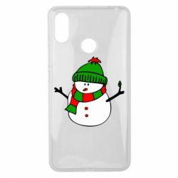 Чехол для Xiaomi Mi Max 3 Снеговик