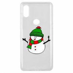 Чехол для Xiaomi Mi Mix 3 Снеговик