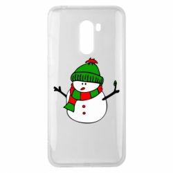 Чехол для Xiaomi Pocophone F1 Снеговик - FatLine