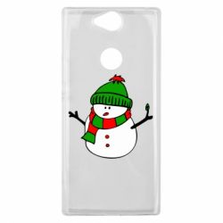 Чехол для Sony Xperia XA2 Plus Снеговик - FatLine