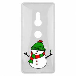 Чехол для Sony Xperia XZ2 Снеговик - FatLine