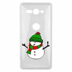 Чехол для Sony Xperia XZ2 Compact Снеговик - FatLine