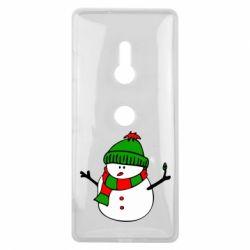 Чехол для Sony Xperia XZ3 Снеговик - FatLine