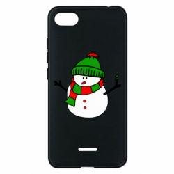 Чехол для Xiaomi Redmi 6A Снеговик - FatLine