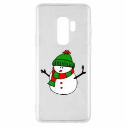 Чехол для Samsung S9+ Снеговик