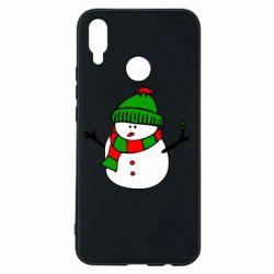 Чехол для Huawei P Smart Plus Снеговик - FatLine