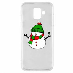 Чехол для Samsung A6 2018 Снеговик
