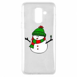 Чехол для Samsung A6+ 2018 Снеговик